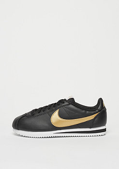 Classic Cortez Leather black/metallic gold/white