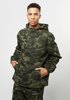 CSBL Jacket Half-Zip Hoody washed woodland