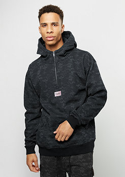 Hooded-Sweatshirt First Division Half Zip black digi camo