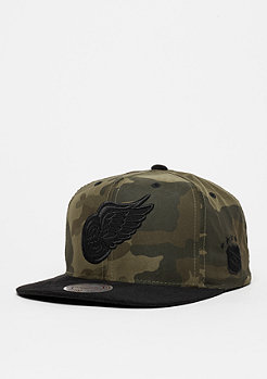 Snapback-Cap Black Suede NHL Detroit Redwings camo