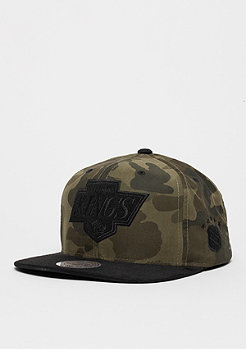 Snapback-Cap Black Suede NHL Los Angeles Kings woodland camo