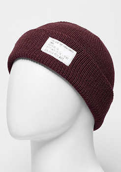 Beanie Lightweight Patch maroon