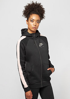 NIKE Rally Hoodie FZ Air black/orange quartz/black heather