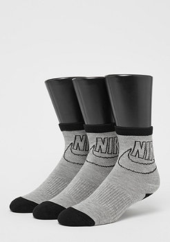 Striped Low dark grey heather/black/black