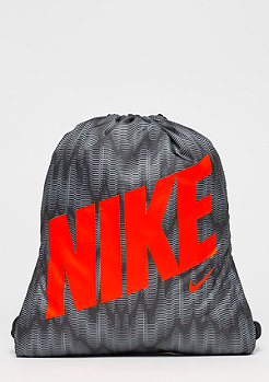 Graphic Gym Sack (youth) black/black/hyper crimson