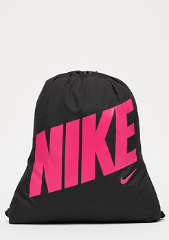 Graphic Gym Sack (youth) black/black/rush pink