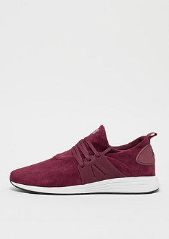WAVEY deep maroon/white