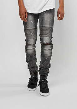 Jeans-Hose Destroyed Biker black