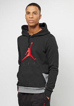 JORDAN Jumpman Air GFX Fleece black/carbon heather/university red