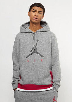 JORDAN Jumpman Air GFX Fleece carbon heather/gym red/black