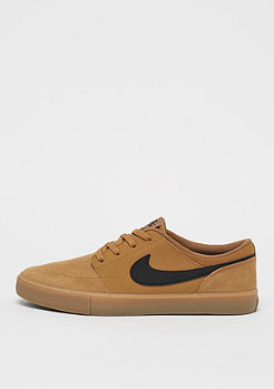 NIKE SB Solarsoft Portmore II golden beige/black/gum light brown