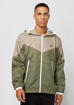 Jacket Packable khaki/medium olive/white