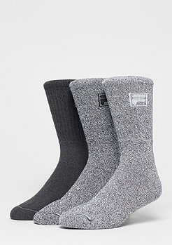 FILA Unisex Sport Socks 3-Pack F9000 grey mouline