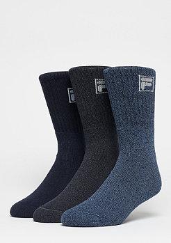 Unisex Sport Socks 3-Pack F9000 navy mouline
