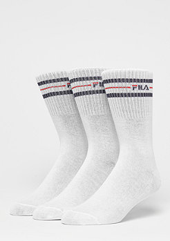 Unisex Street Socks 3-Pack F9092 white