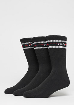 FILA Unisex Street Socks 3-Pack F9092 black