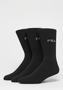 FILA Unisex Street Socks 3-Pack F9630 black