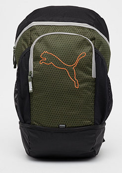 Puma Echo Backpack olive night/shocking orange