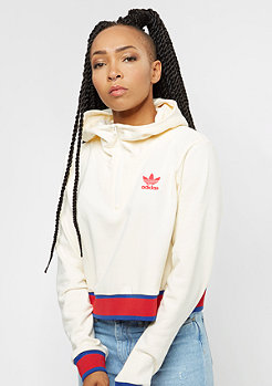 adidas EA Cropped Half Zip Graphic cream white