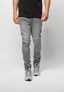 Jeans-Hose Slim Fit Knee Cut Denim grey
