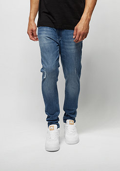 Urban Classics Jeans-Hose Skinny Ripped Stretch Denim blue washed