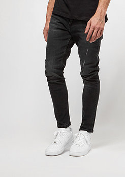 Jeans-Hose Skinny Ripped Stretch black washed