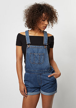 DENIM PINAFORE DRESS blue washed