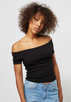 Off Shoulder Rib black