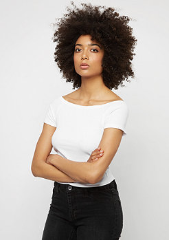 Urban Classics T-Shirt Off Shoulder Rib white