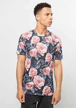 T-Shirt Bloom black/multi