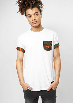 Criminal Damage T-Shirt Dazzle Pocket white/orange