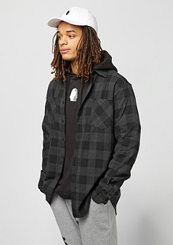 KINGIN Kingin Shirt Flannel KG501 Melrose dark grey/black