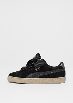 Suede Heart Safari black/gum