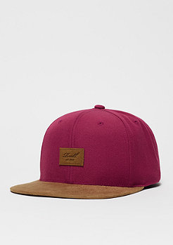 Suede 6-Panel wine red