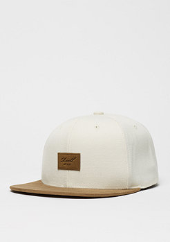 Snapback-Cap Suede 6-Panel cream
