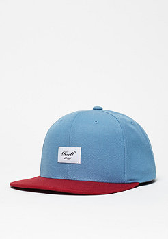 Snapback-Cap Suede 6-Panel blue/red