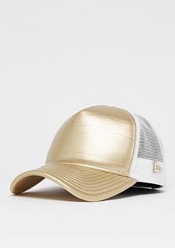 New Era Metallic Trucker gold