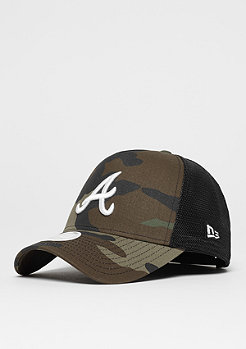 New Era Trucker MLB Atlanta Braves woodland camo/optic white