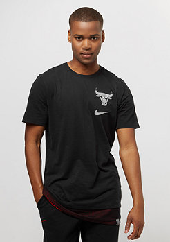 NIKE Tee NBA Chicago Bulls black/universita red