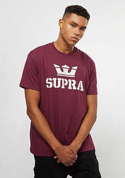 Supra Above burgundy/grey
