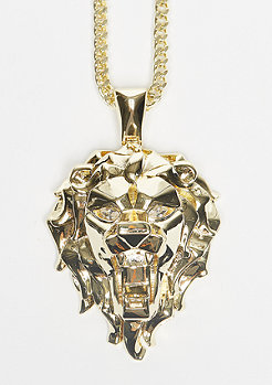 Fox Empire CZ Faceted Lion gold