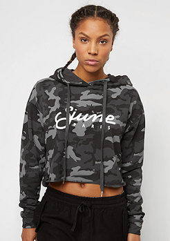 Oversized Cropped black camo