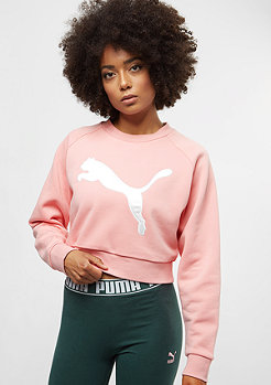Puma Cropped Crew Sweat coral cloud