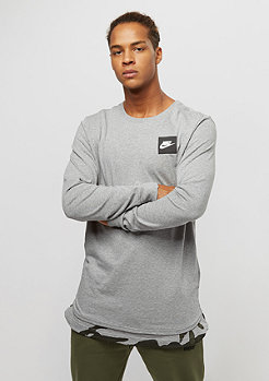 NIKE Top dark grey heather