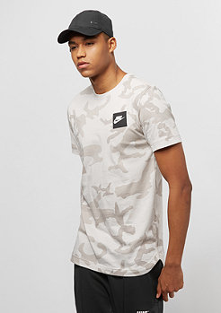 NIKE Top AOP Curved Hem light bone