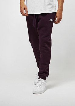 NIKE Club FLC port wine/white