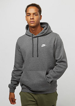 NIKE PO FLC Club charcoal heather/charcoal heather/white
