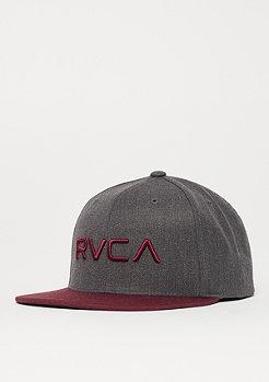 RVCA RV Twill III charcoal heather/wine