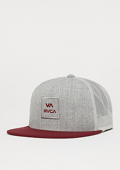 RVCA All The Way charcoal heather/wine