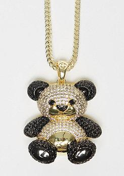 Two-Tone CZ Panda gold